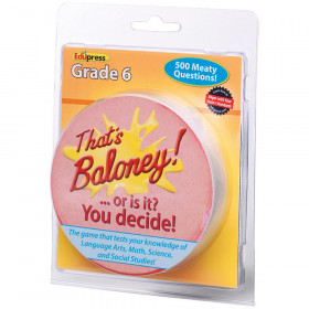 Thats Baloney Game Gr 6