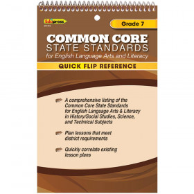 Quick Flip Reference For Common Core State Standards Gr 7