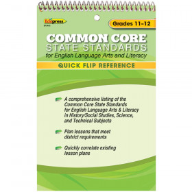 Quick Flip Reference For Common Core State Standards Gr 11 - 12