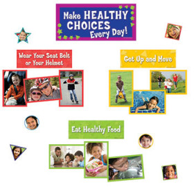 Make Healthy Choices Mini Bulletin Board Set