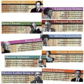 Notable Black Americans Mini Bulletin Board Set