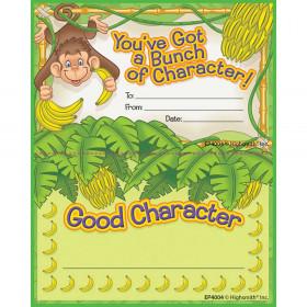 Good Character Punch Card Award