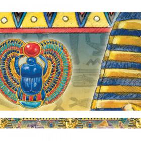 Egyptian Hieroglyphs Spotlight Border