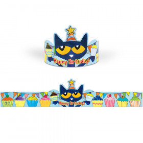 Pete the Cat Happy Birthday Crowns, Pack of 30