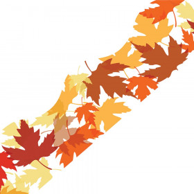 Maple Leaves Simply Border