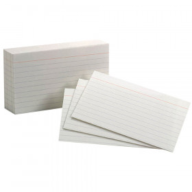 "Oxford White Commercial Index Cards, 3"" x 5"", Ruled, 1000/pkg"