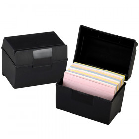 "Oxford Plastic Index Card Box, 4"" x 6"""