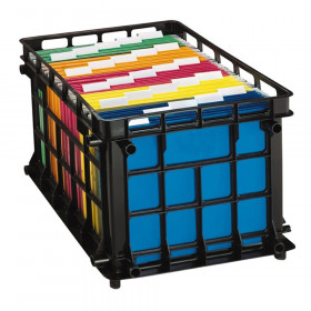 Filing Crate, Black