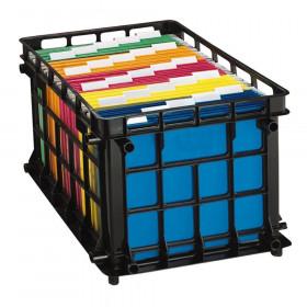 Filing Crate, Black