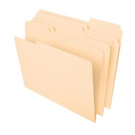 Pendaflex Essentials Manila File Folders, Letter, 1/3 Cut Tab, Box of 100