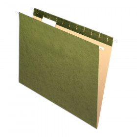 Pendaflex Essentials Hanging File Folders, 1/5 Cut Tab, Box of 25