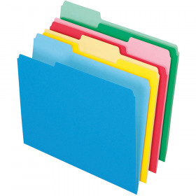Pendaflex 24Ct Essentials File Folders Assorted Letter Size