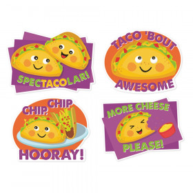 Jumbo Scented Stickers, Taco, Pack of 12