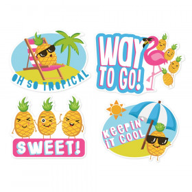 Jumbo Scented Stickers, Pineapple, Pack of 12