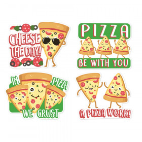 Jumbo Scented Stickers, Pizza Stickers, Pack of 12