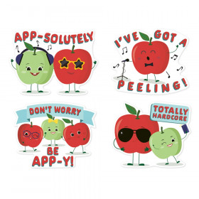 Jumbo Scented Stickers, Apple, Pack of 12