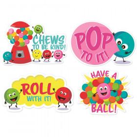 Jumbo Scented Stickers, Bubblegum, Pack of 12