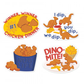 Jumbo Scented Stickers, Chicken Nuggets, Pack of 12