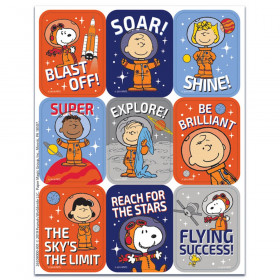 Peanuts NASA Giant Stickers, Pack of 36