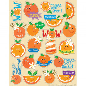 Orange Scented Stickers, Pack of 80