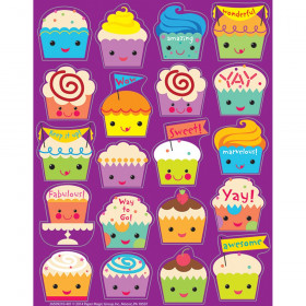 Cupcake Scented Stickers, Pack of 80