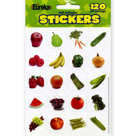 Fruits And Vegetables Photos Theme Stickers