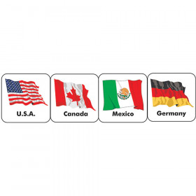World Flags (20 countries) Theme Stickers