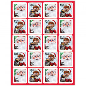 Santa Comin To Town Stickers
