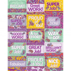 Positively Paisley Success Stickers, Pack of 120