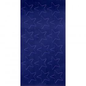 """1/2"""" Blue (250) Presto-Stick Foil Star Stickers"""