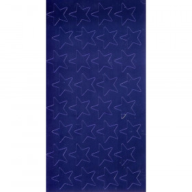 "3/4"" Blue (175) Presto-Stick Foil Star Stickers"