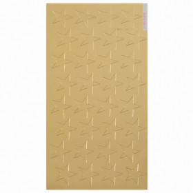 Stickers Foil Stars 1/2 In 250/Pk Gold