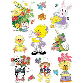 Window Cling Suzys Zoo Spring 12X17