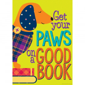 "Plaid Attitude - Get Your Paws On A Good Book 13"" x 19"" Posters"