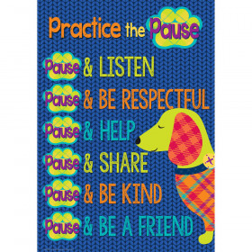 Practice The Pause 13X19 Poster Plaid Attitude