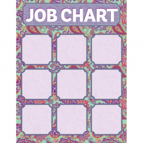 "Positively Paisley Class Jobs Chart, 17"" x 22"""