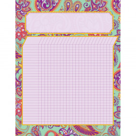 """Positively Paisley Incentive Chart, 17"""" x 22"""""""