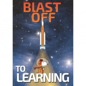 "Peanuts NASA Blast Off To Learning Poster, 13"" x 19"""