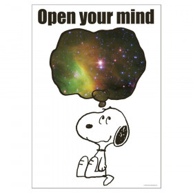 """Peanuts NASA Open Your Mind Poster, 13"""" x 19"""""""