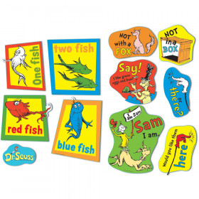 Large Dr Seuss Fish Fox And Sam 2 Sided Deco Kit