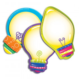Light Bulbs Assorted Paper Cut Outs Color My World