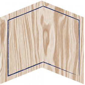 Confetti Splash Paper Cutouts Woodgrain