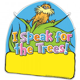 The Lorax Project I Speak For The Trees Paper Cut-Outs