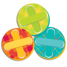Plaid Attitude - Buttons Paper Cut-Outs