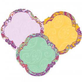 Positively Paisley Paper Cut-Outs, Pack of 36
