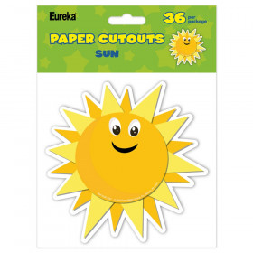 Growth Mindset Sun Paper Cut-Outs, Pack of 36