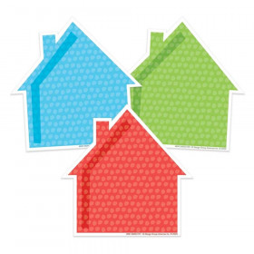 A Teachable Town Assorted Houses Paper Cut-Outs, Pack of 36