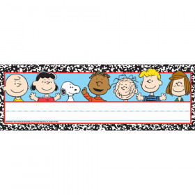 Peanuts Composition Tented Name Plates
