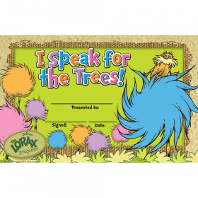 The Lorax Project I Speak For The Trees Recognition Awards