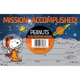 Peanuts NASA Recognition Awards, Pack of 36